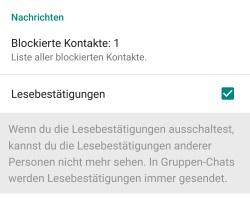 wie kann ich blockierte kontakte aus whatsapp löschen